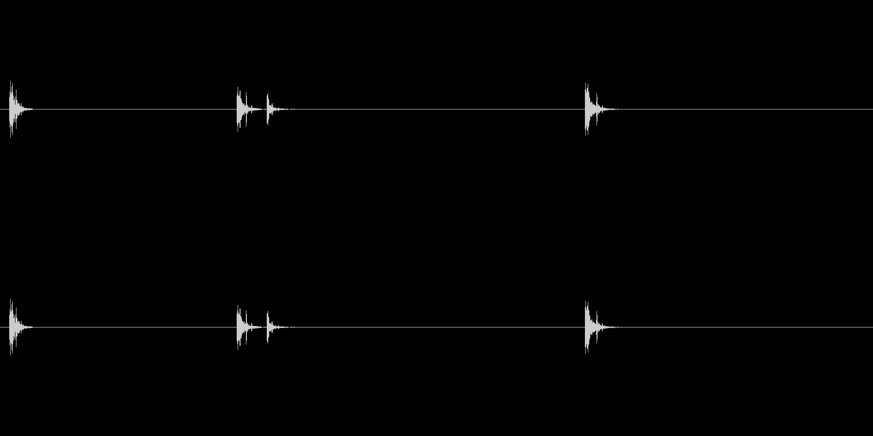 爆発17の未再生の波形