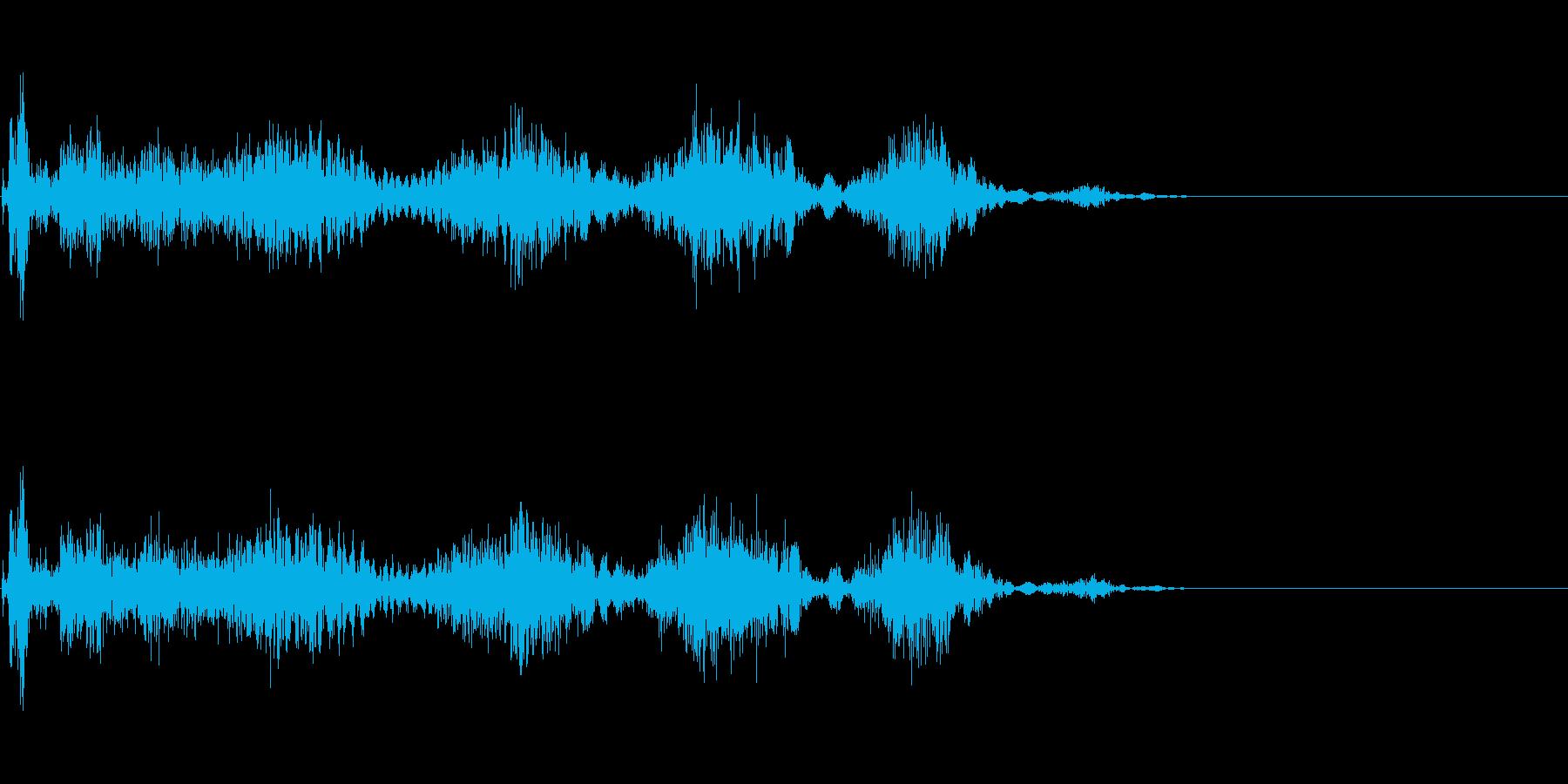 風魔法が貫く音の再生済みの波形