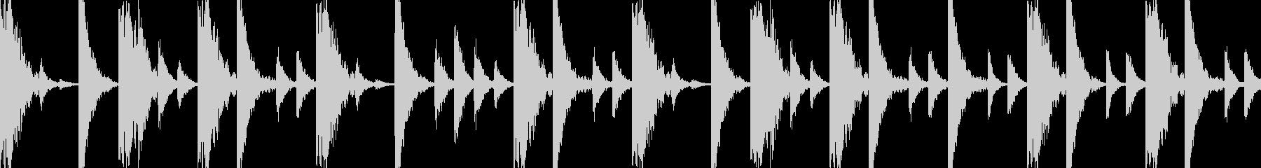 ドラムンベースのリズムループパターン06の未再生の波形