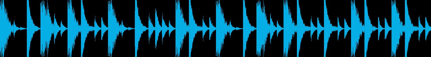ドラムンベースのリズムループパターン06の再生済みの波形