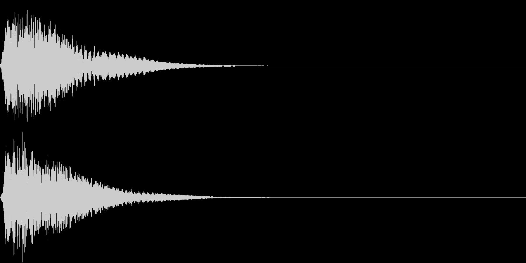 キュイン ボタン ピキーン キーン 18の未再生の波形