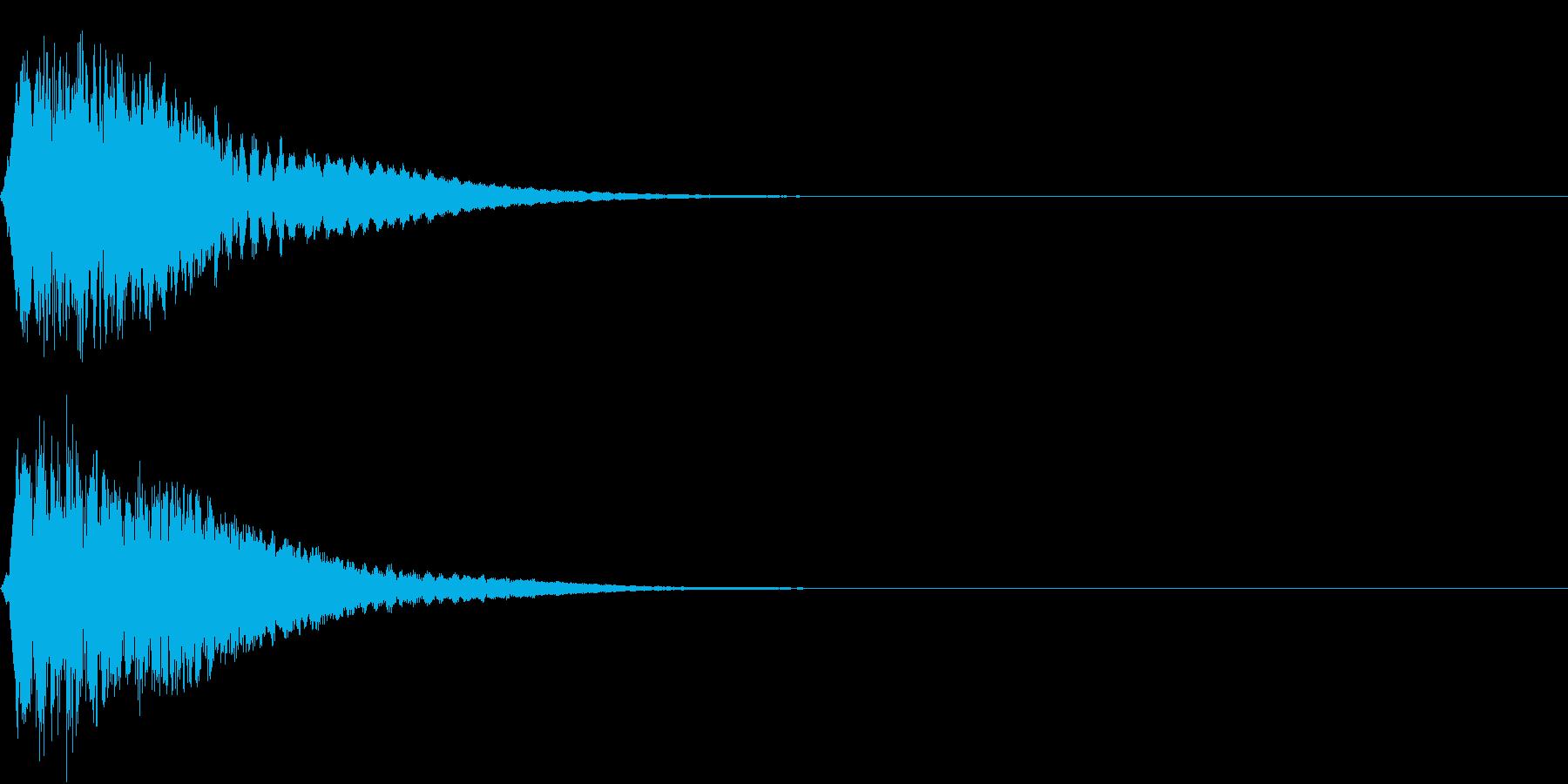キュイン ボタン ピキーン キーン 18の再生済みの波形