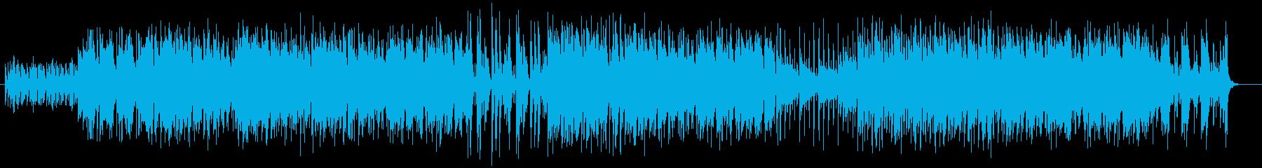 マラカスのリズムの音が効果的なポップ曲の再生済みの波形