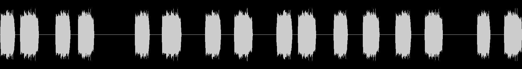 ハニーバンパネルサーボの未再生の波形