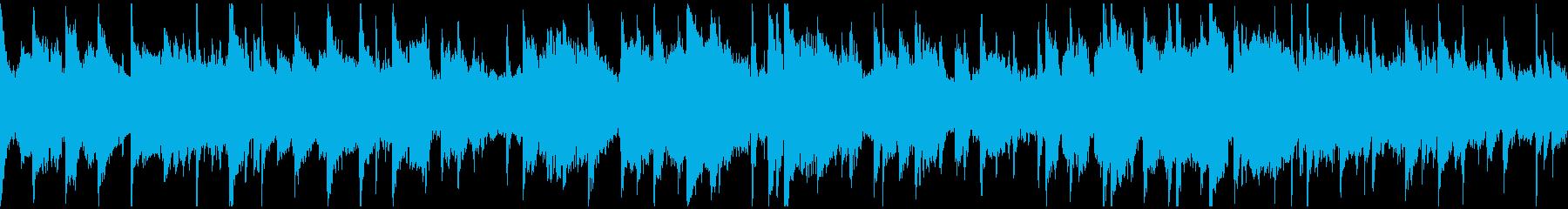 プラネタリウムっぽい幻想的な曲※ループ版の再生済みの波形