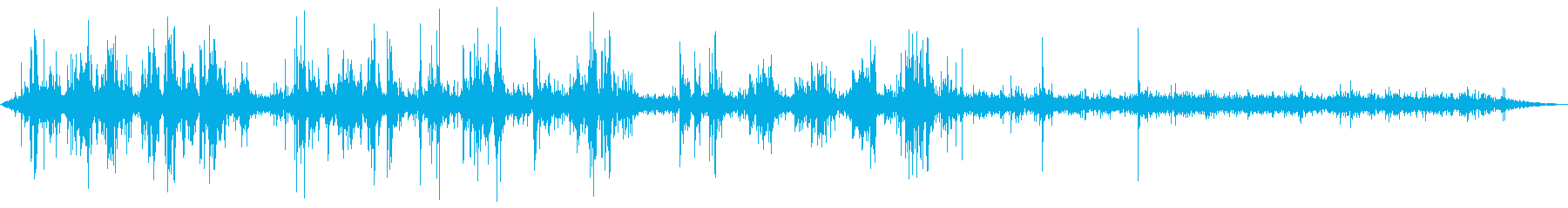 アンティークチューブ無線の静的干渉の再生済みの波形