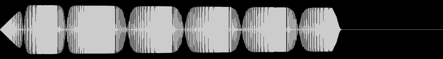 ピロリロリ(警告アラート失敗ミスサイレンの未再生の波形