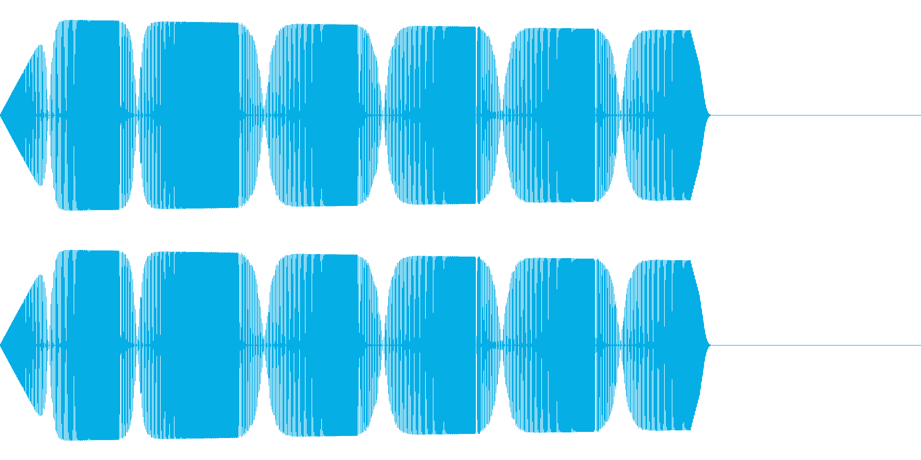 ピロリロリ(警告アラート失敗ミスサイレンの再生済みの波形