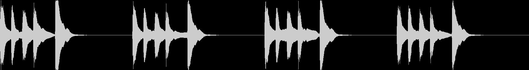 シンプル ベル 着信音 チャイム C-6の未再生の波形