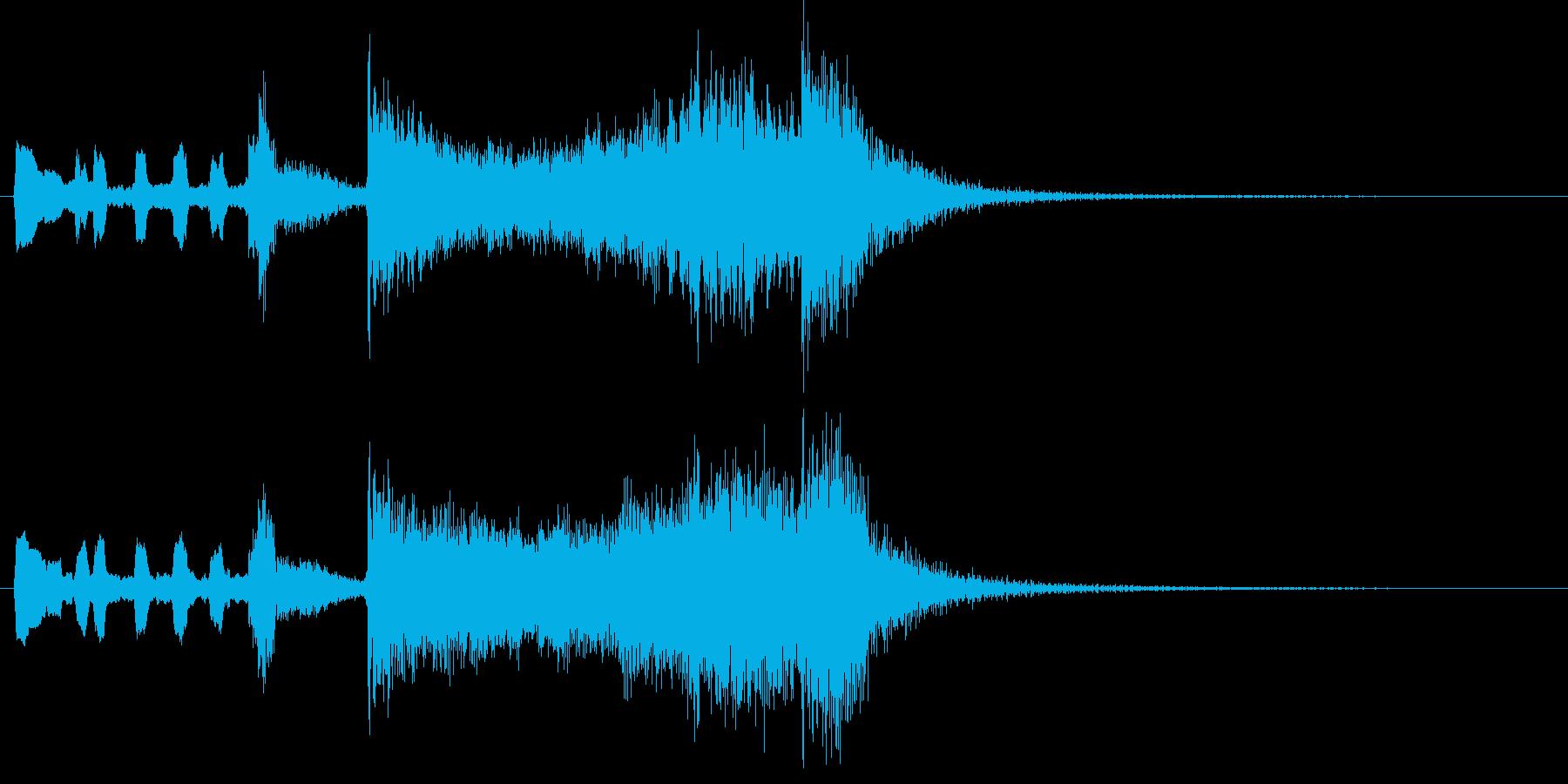 勇ましい金管楽器のファンファーレの再生済みの波形