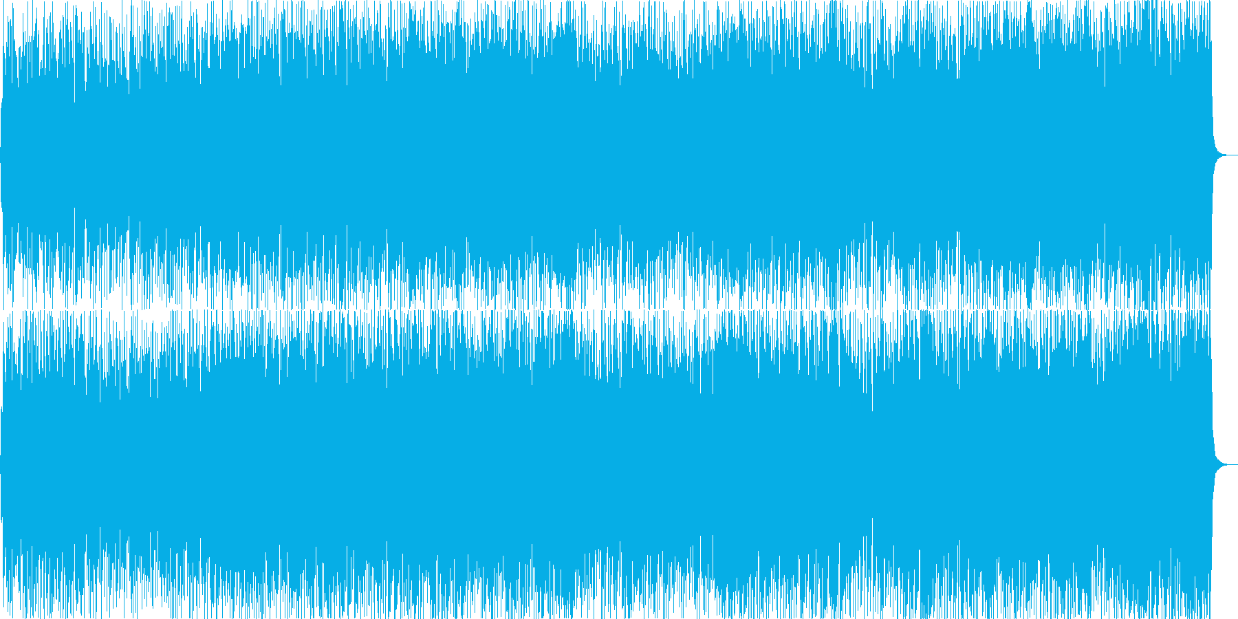 Light BGM with lively flute's reproduced waveform