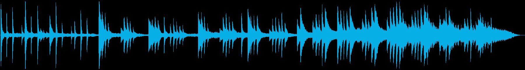小川のせせらぎの様な癒し系のバラードの再生済みの波形