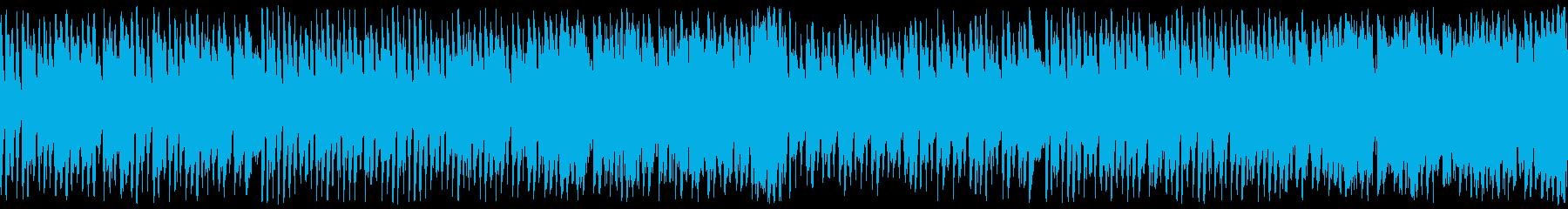 ハロウィン向けポップなホラーループ曲の再生済みの波形