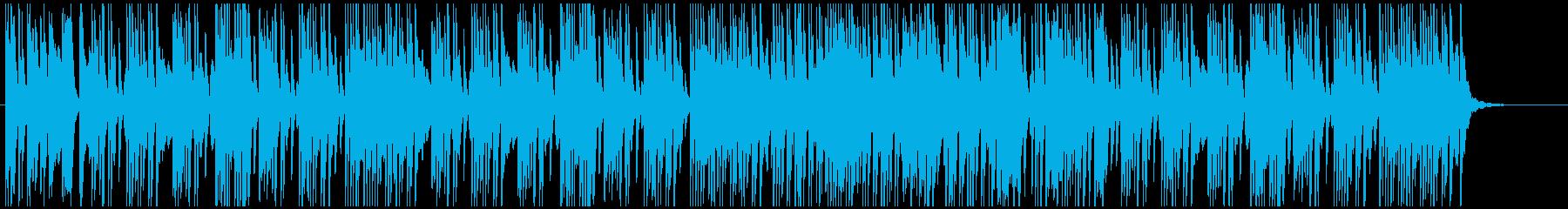 楽しく陽気なエンターティナーのピアノソロの再生済みの波形