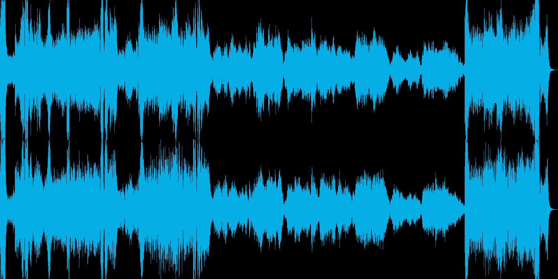 日本的な映画風オーケストラ楽曲の再生済みの波形