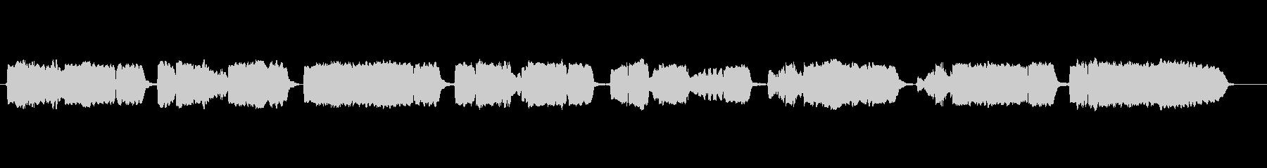 童謡「紅葉」の篠笛独奏の未再生の波形