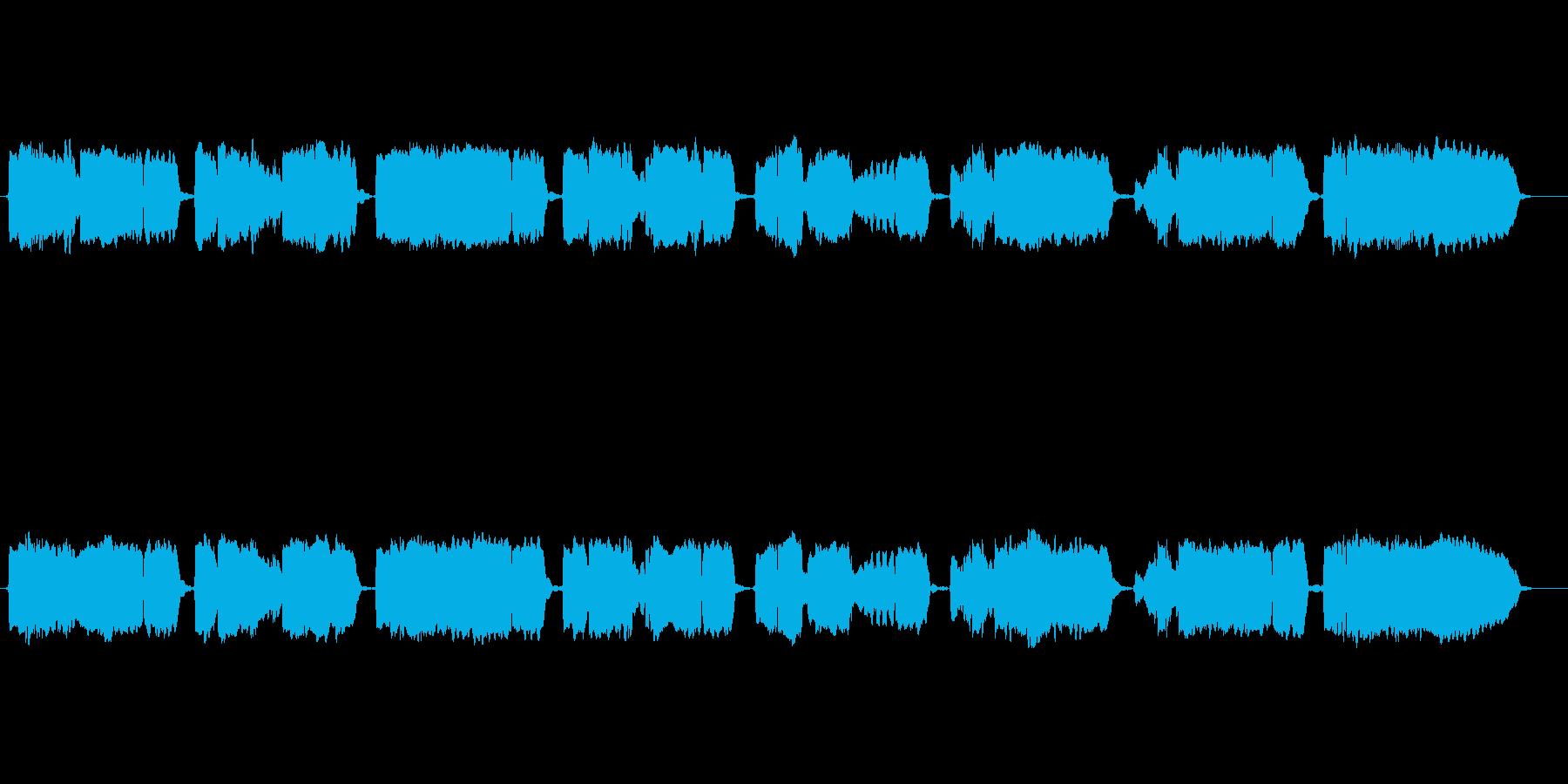 童謡「紅葉」の篠笛独奏の再生済みの波形