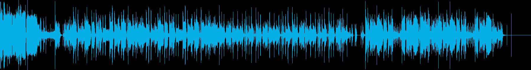 テンポにとらわれない機械音などが印象的の再生済みの波形