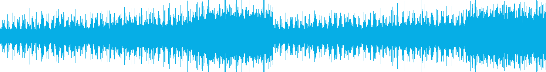 神秘的で異世界を感じるミステリアスな曲の再生済みの波形