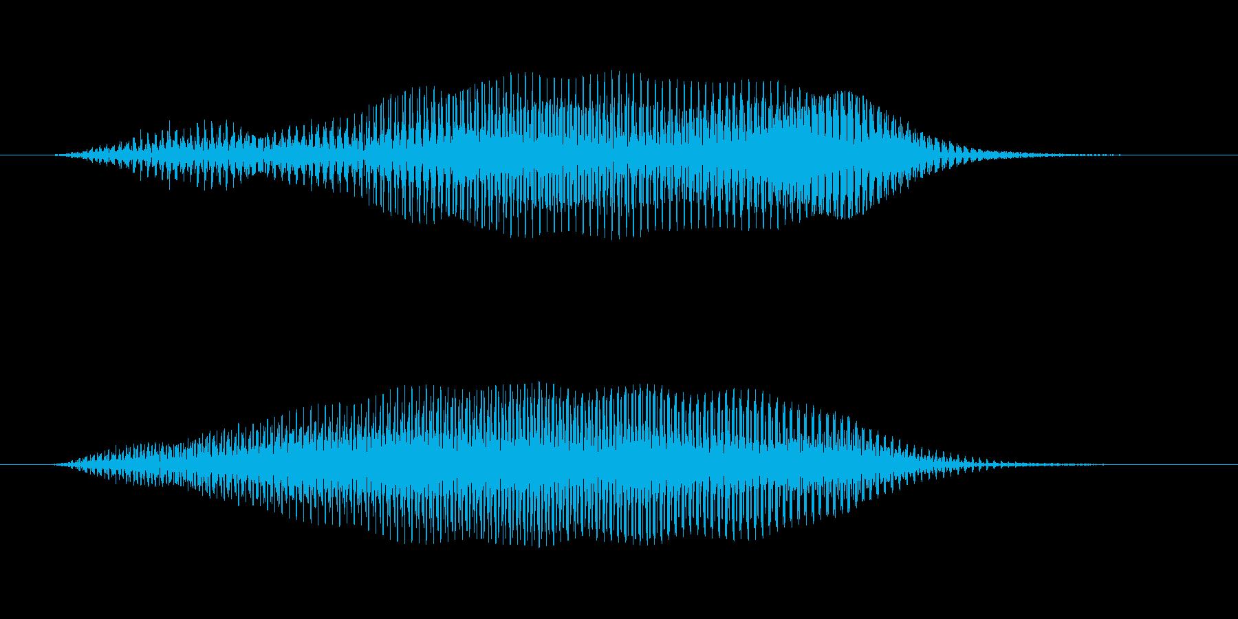 「ブーン」と迫る低音 ホラー サスペンスの再生済みの波形