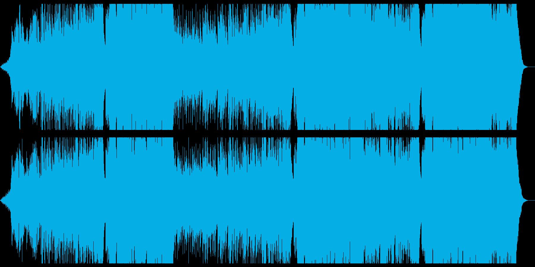 和風バラードの切ない女性ボーカル曲の再生済みの波形