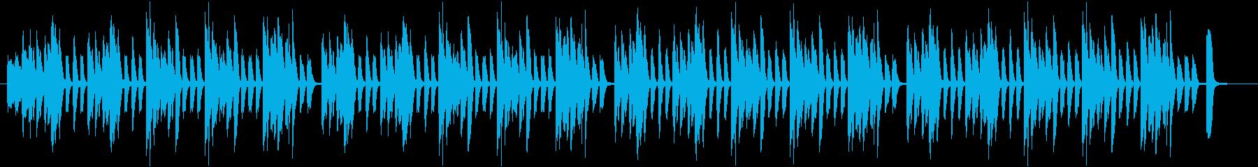 簡素で少しコミカル、使い勝手の良いBGMの再生済みの波形