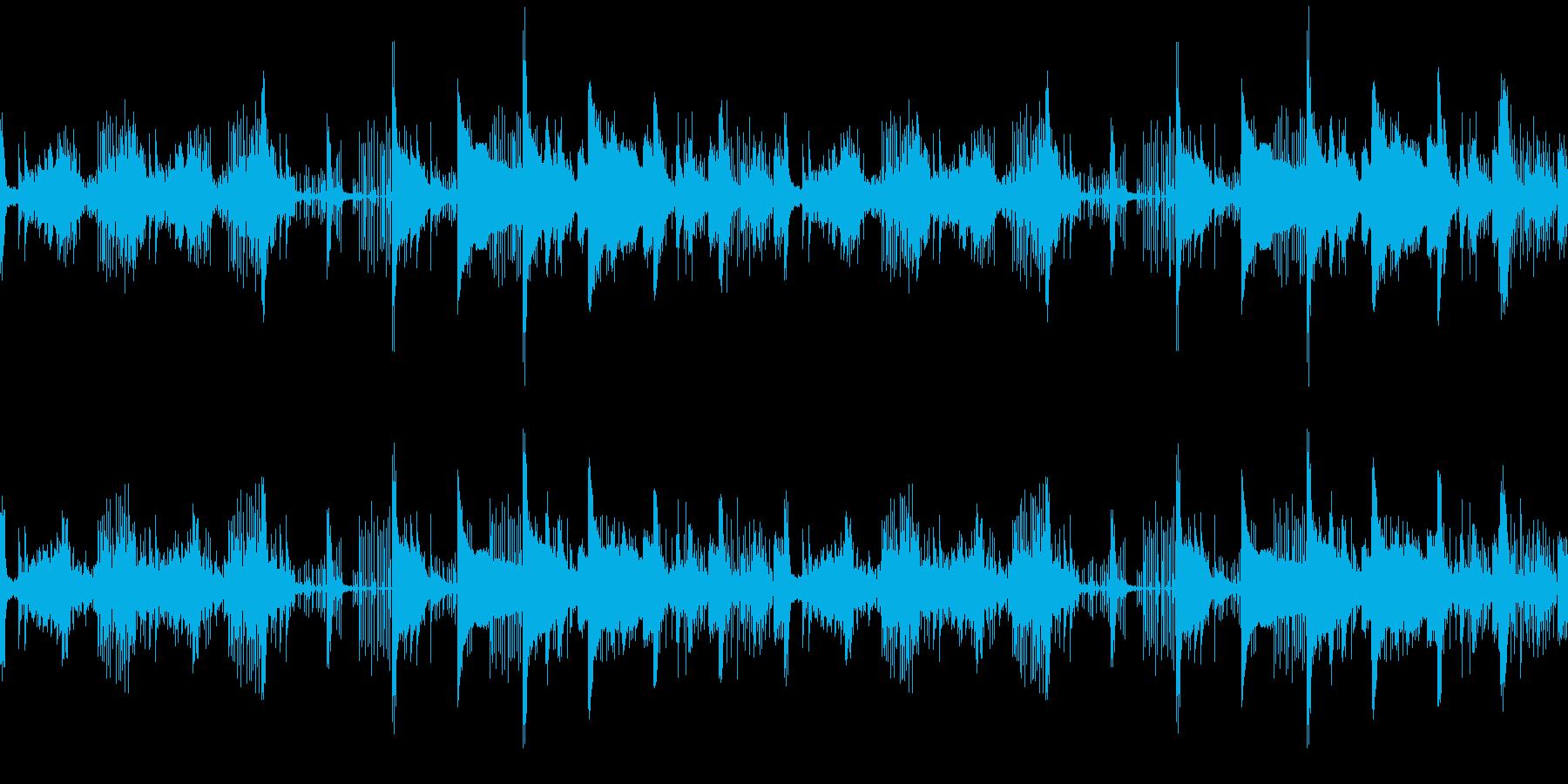 ハロウィン・ホラー系楽曲の再生済みの波形