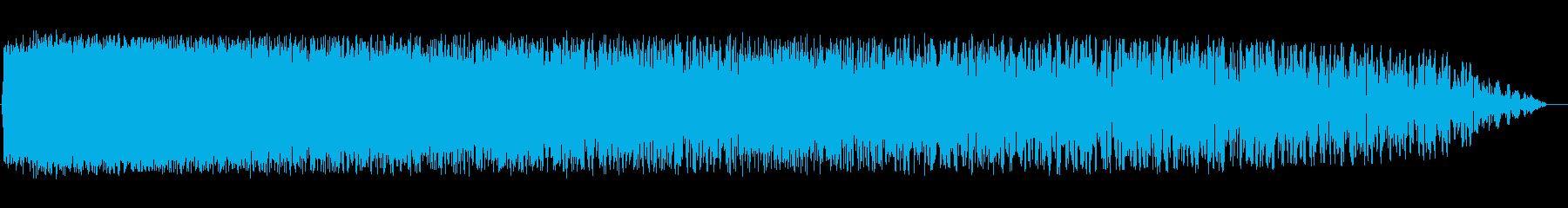 ピシャァーン(雷のような音)の再生済みの波形