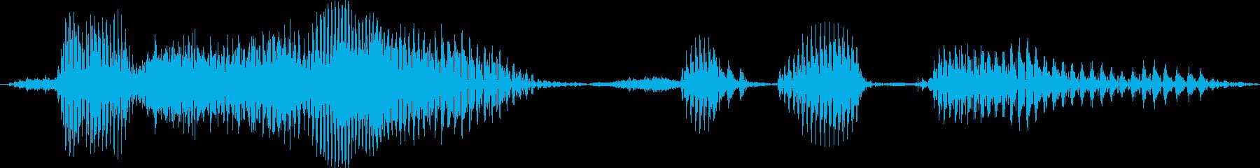 オペレーター男性用のコンピューター...の再生済みの波形