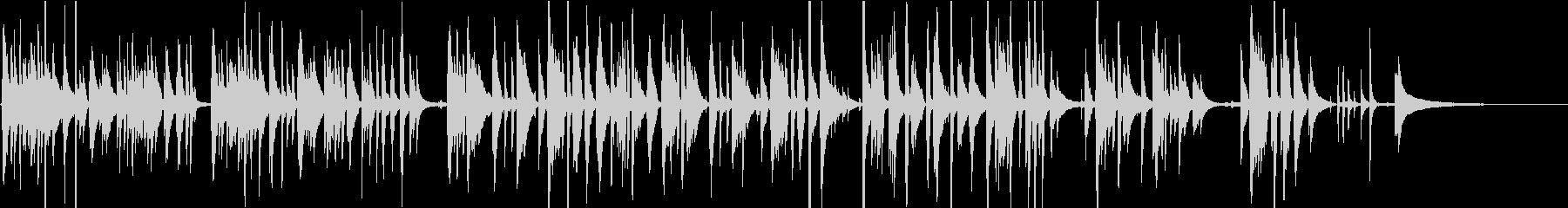 ナイロン弦の優しい音色のソロギターの未再生の波形