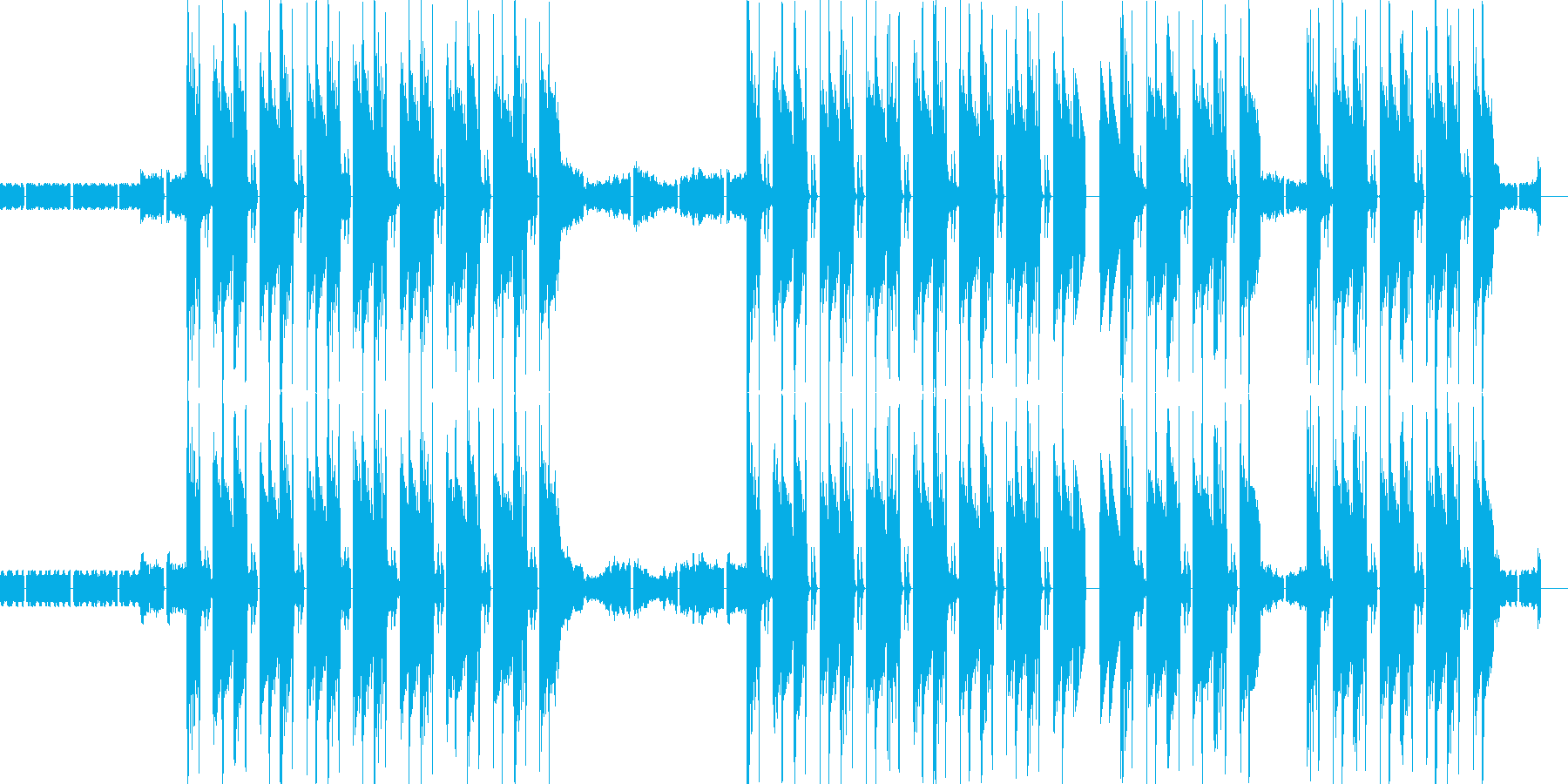 HIP HOPのトラックをイメージの再生済みの波形