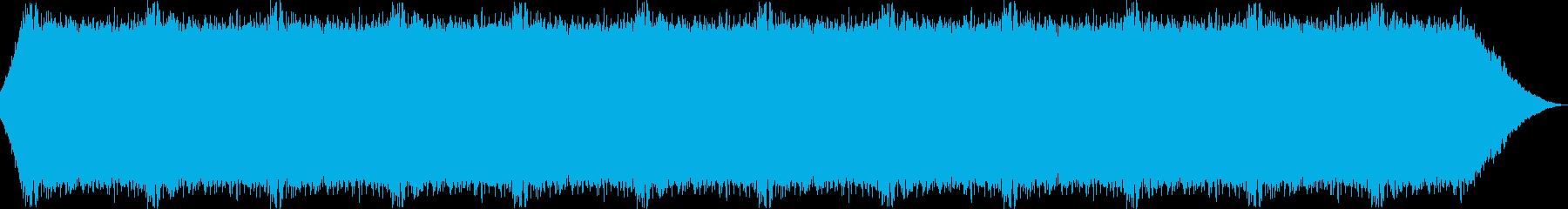 滝から勢いよく流れ落ちる水の音の再生済みの波形