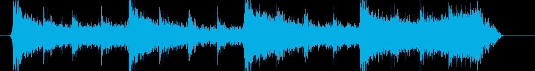 ゲーム、映画の短い予告映像用の曲の再生済みの波形
