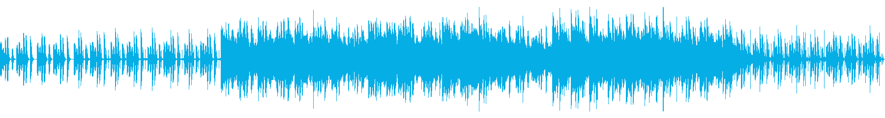 リラックスできるかわいらしい映像音楽の再生済みの波形