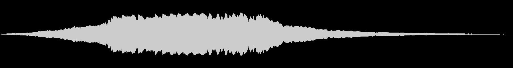 トーンアラーム空襲サイレンwavの未再生の波形