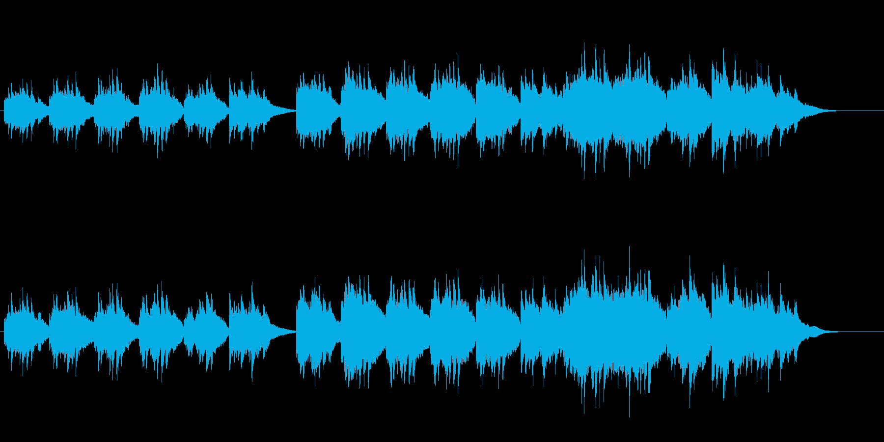 感動を語るピアノ・ソロ・ブライダル風の再生済みの波形