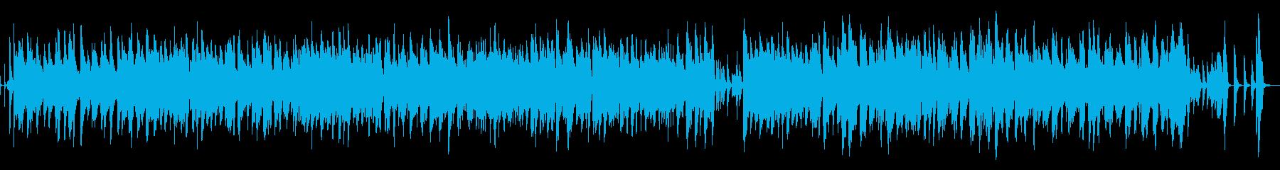 おしゃれで軽快なジャズ楽曲の再生済みの波形