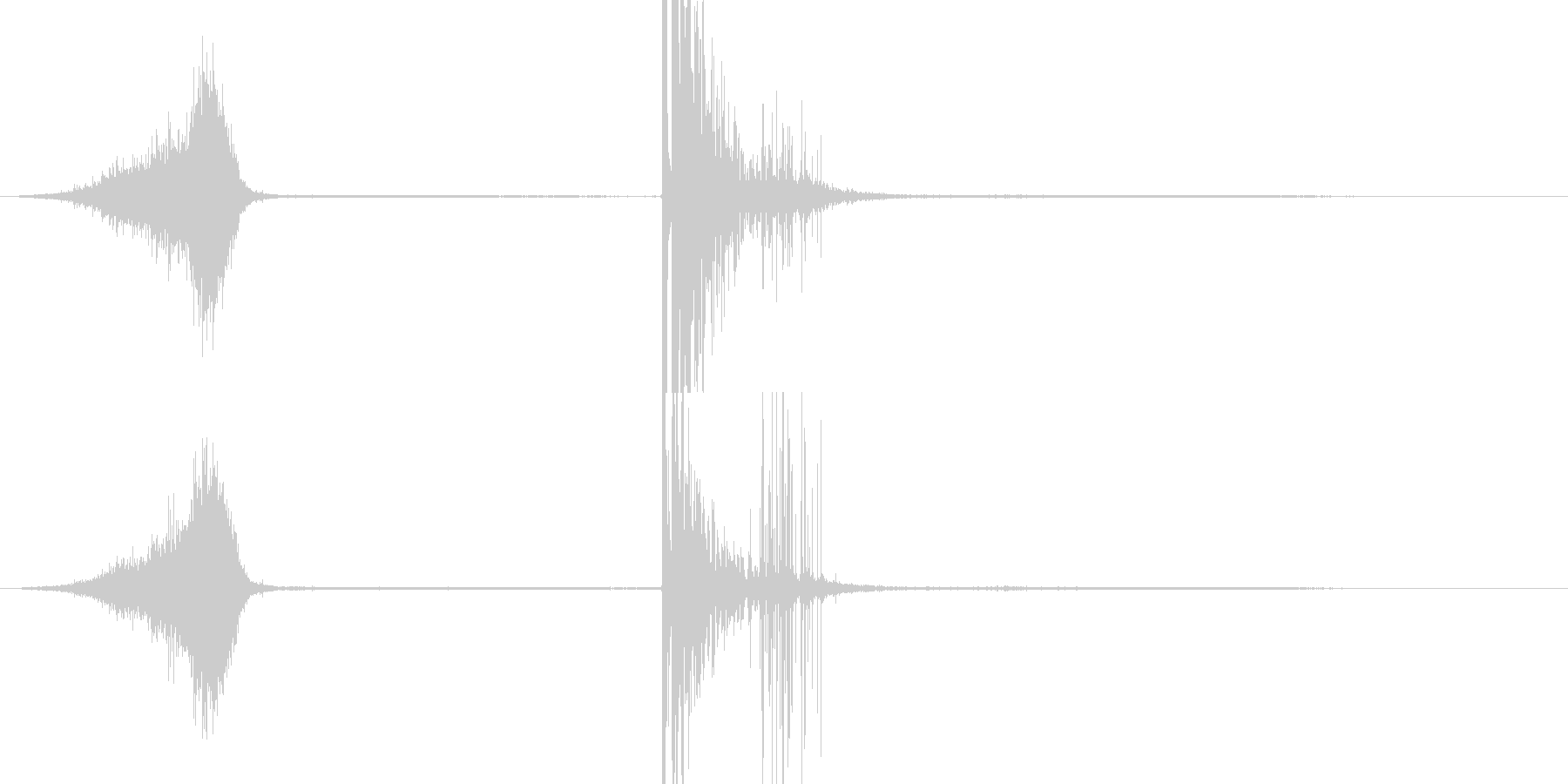 単一の花火爆発の未再生の波形