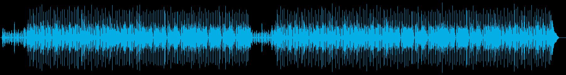 ゆったりとリラックスシンセポップス曲の再生済みの波形