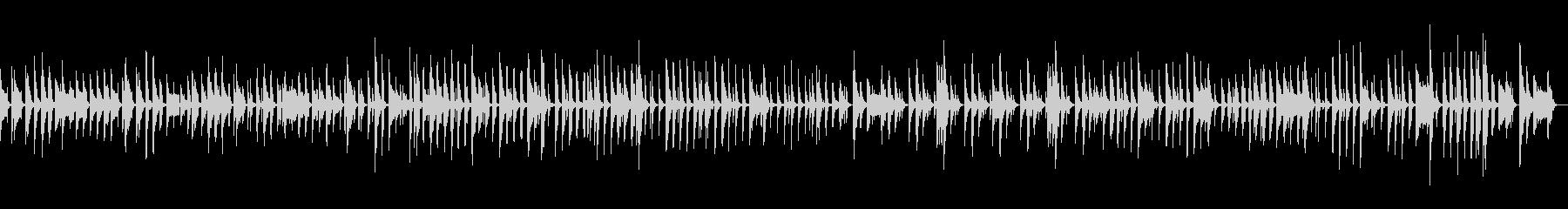 「ニャー」音を使ったちょっぴり間抜けな曲の未再生の波形