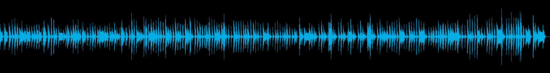 「ニャー」音を使ったちょっぴり間抜けな曲の再生済みの波形