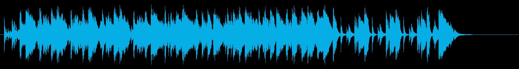 キャラクター登場シーンの曲の再生済みの波形