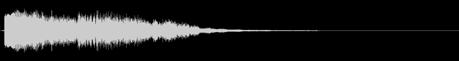 エレキ一本による不協和音チックジングルの未再生の波形