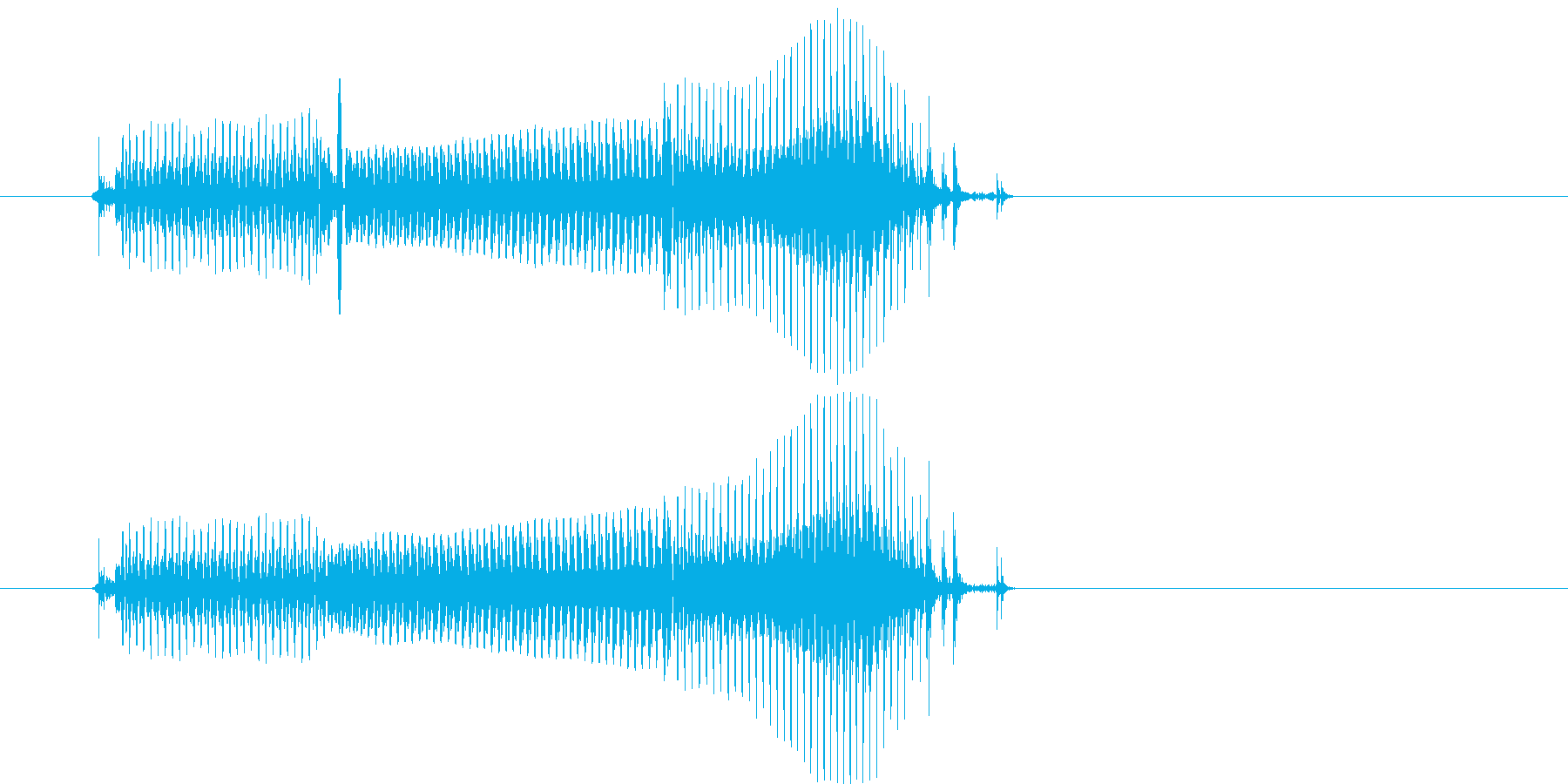 だめ(2歳児の生声です)の再生済みの波形