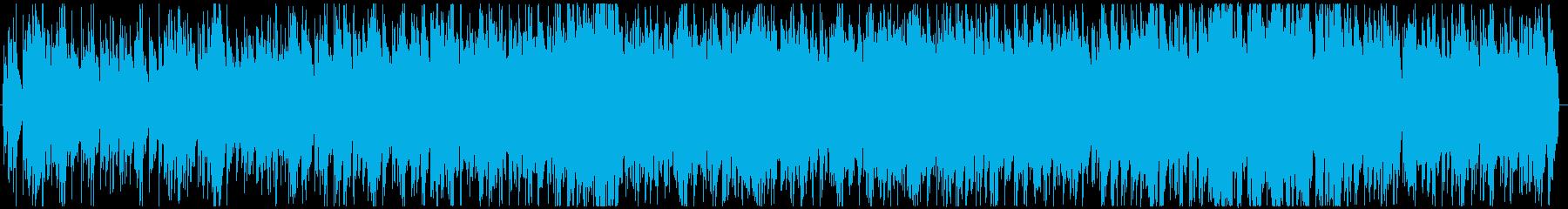 緊張感のあるサスペンス風BGMの再生済みの波形