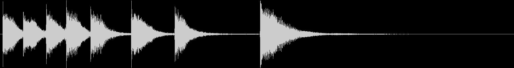 ピアノジングル 幼児向けアニメ系H-02の未再生の波形