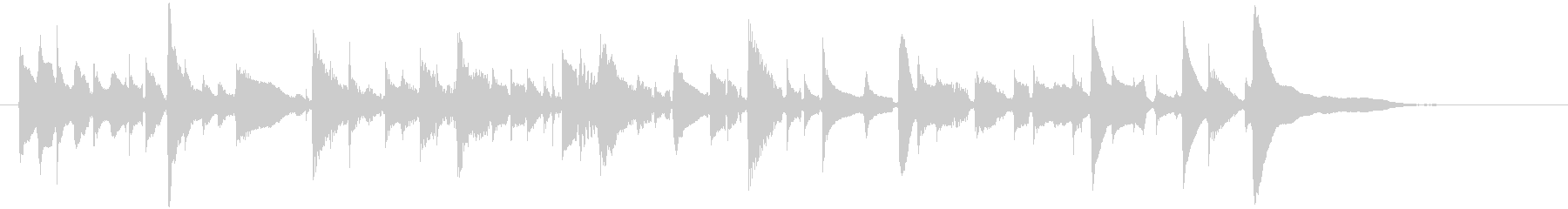 アコギ1/爽やか、ソロ、生音の未再生の波形