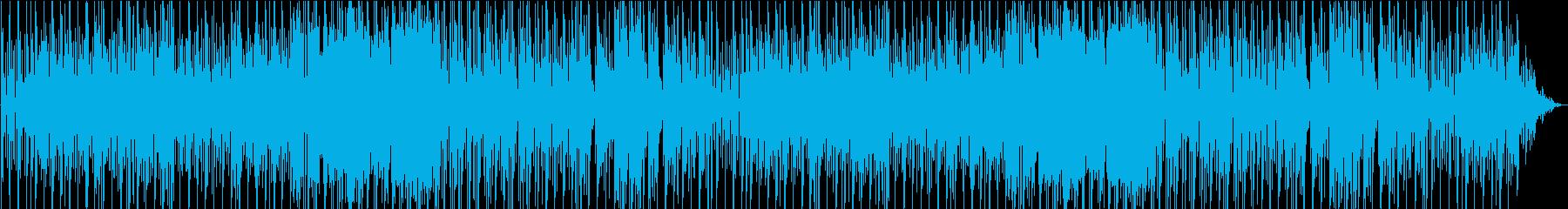 軽快なリズムの明るい和風曲の再生済みの波形