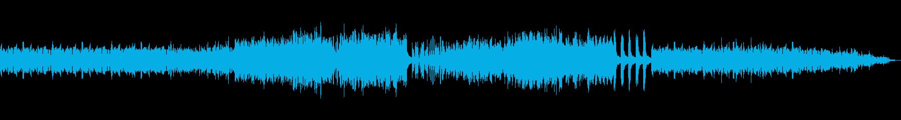 情緒豊かなピアノソロの再生済みの波形