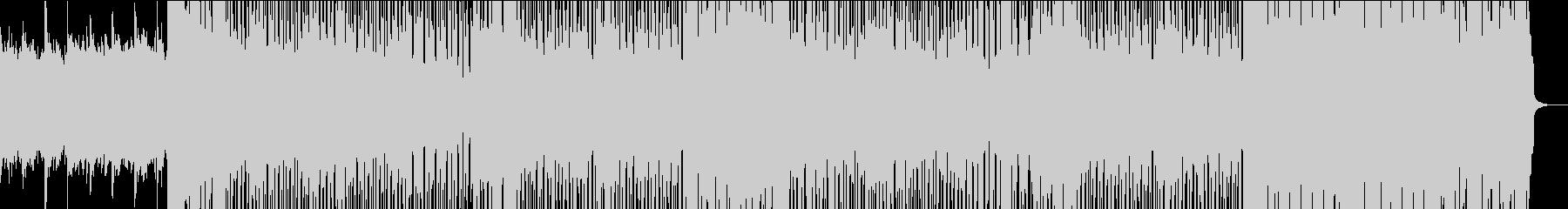 ポップでかわいくて軽快なガールズバンドbの未再生の波形
